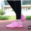 พร้อมส่ง รองเท้าผ้าใบแฟชั่น งานผ้า น้ำหนักเบา ทรงยอดฮิต แฟชั่นเกาหลี [สีชมพู ]