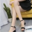 รองเท้าส้นตันรัดส้น เพิ่มสายรัดข้อเท้า [สีดำ ] thumbnail 5