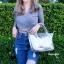 กระเป๋าสะพายแฟชั่น กระเป๋าสะพายข้างผู้หญิง ลองชอมหนัง Style [สีเงิน ] thumbnail 2