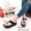 พร้อมส่ง รองเท้าแตะเพื่อสุขภาพ แบบคีบ พื้นSoft Comfort แฟชั่นเกาหลี [สีดำ ] thumbnail 1