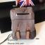 กระเป๋าเป้ผู้หญิง กระเป๋าสะพายข้างแฟชั่น แต่งหูหนังพียูเข็มขัดสอด [สีน้ำตาล ] thumbnail 1