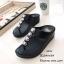 พร้อมส่ง รองเท้าแตะเพื่อสุขภาพ แบบคีบ พื้นSoft Comfort แฟชั่นเกาหลี [สีดำ ] thumbnail 3
