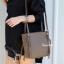 กระเป๋าสะพายแฟชั่น กระเป๋าสะพายข้างผู้หญิง กระเป๋าสะพายข้าง ซิปข้าง [สีดำ] thumbnail 2