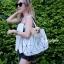 กระเป๋าสะพายแฟชั่น กระเป๋าสะพายข้างผู้หญิง Baobao crystal [สีขาว] thumbnail 3