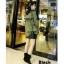 พร้อมส่ง รองเท้าผ้าใบหุ้มข้อสีดำ ผ้าสักหราด แฟชั่นเกาหลี แฟชั่นเกาหลี [สีดำ ] thumbnail 5