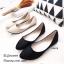 พร้อมส่ง รองเท้าคัทชูส้นแบน กำมะหยี่นิ่ม แต่งเกร็ดวิ้งๆ แฟชั่นเกาหลี [สีดำ ] thumbnail 3