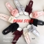 พร้อมส่ง รองเท้าแตะผู้หญิง แบบสวม ผ้าซาติน แต่งโบว์ แฟชั่นเกาหลี [สีเทา ] thumbnail 3
