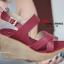 รองเท้าส้นเตารีดรัดส้น สายไขว้ กระชับเท้า [สีแดง ] thumbnail 2