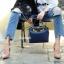 กระเป๋าถือ กระเป๋าสะพายข้างแฟชั่น Fendi monster [สีกรม ] thumbnail 4