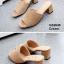 รองเท้าส้นตันเปิดส้น แบบสวม [สีครีม ] thumbnail 2
