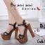 รองเท้าส้นสูงรัดส้น สายคาดไขว้ [สีดำ ] thumbnail 3