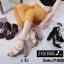 พร้อมส่ง รองเท้าส้นสูงรัดส้น ผ้าสักหราด สไตล์เกาหลี แฟชั่นเกาหลี [สีครีม ] thumbnail 4