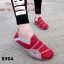 พร้อมส่ง รองเท้าผ้าใบแฟชั่นสีแดง ไร้เชือก สไตล์ Sport Girls แฟชั่นเกาหลี [สีแดง ] thumbnail 1