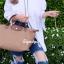 กระเป๋าสะพายแฟชั่น กระเป๋าสะพายข้างผู้หญิง ลองชอมผ้า Style [สีดำ]