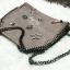 กระเป๋าสะพายแฟชั่น กระเป๋าสะพายข้างผู้หญิง สะพายโซ่ สไตล์ฮิปเตอร์ [สีนู๊ด] thumbnail 5