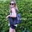 กระเป๋าสะพายแฟชั่น กระเป๋าสะพายข้างผู้หญิง Baobao crystal [สีดำ] thumbnail 1