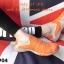พร้อมส่ง รองเท้าผ้าใบแฟชั่นสีส้ม ไร้เชือก สไตล์ Sport Girls แฟชั่นเกาหลี [สีส้ม ] thumbnail 2