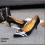 รองเท้าคัทชูหัวแหลม ส้นเข็ม สไตล์สาวออฟฟิศ [สีดำ ] thumbnail 1