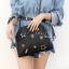 กระเป๋าสะพายแฟชั่น กระเป๋าสะพายข้างผู้หญิง สะพายโซ่ สไตล์ฮิปเตอร์ [สีดำ] thumbnail 3