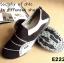 พร้อมส่ง รองเท้าผ้าใบแฟชั่นสีดำ ไร้เชือก สไตล์ Sport Girls แฟชั่นเกาหลี [สีดำ ] thumbnail 2