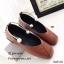 พร้อมส่ง รองเท้าคัทชูส้นแบนสีน้ำตาล หัวตัด กำไรข้อเท้าไข่มุก แฟชั่นเกาหลี [สีน้ำตาล ] thumbnail 2