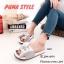 พร้อมส่ง รองเท้าแตะผู้หญิง แบบสวม ผ้าซาติน แต่งโบว์ แฟชั่นเกาหลี [สีเทา ] thumbnail 1