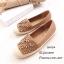 พร้อมส่ง รองเท้าผ้าใบผู้หญิงสีกากี พียูนิ่ม แต่งอะไหล่ดอกไม้ตอก แฟชั่นเกาหลี [สีกากี ] thumbnail 2