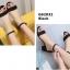 รองเท้าส้นตันรัดส้น เพิ่มสายรัดข้อเท้า [สีดำ ] thumbnail 4