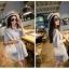 กระเป๋าสะพายแฟชั่น กระเป๋าสะพายข้างผู้หญิง ดีไซน์น่ารักสไตล์เกาหลี [สีขาว ] thumbnail 4