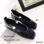 พร้อมส่ง รองเท้าคัทชูส้นแบนสีดำ หัวตัด กำไรข้อเท้าไข่มุก แฟชั่นเกาหลี [สีดำ ] thumbnail 3