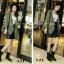 พร้อมส่ง รองเท้าผ้าใบหุ้มข้อสีดำ ผ้าสักหราด แฟชั่นเกาหลี แฟชั่นเกาหลี [สีดำ ] thumbnail 4