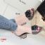 รองเท้าส้นตันเปิดส้น CN CamilliaSandals Style [สีเทา ] thumbnail 2