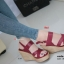 รองเท้าส้นเตารีดรัดส้น สายไขว้ กระชับเท้า [สีแดง ] thumbnail 4