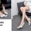 รองเท้าคัทชูหัวแหลม ส้นเข็ม สไตล์สาวออฟฟิศ [สีครีม ] thumbnail 3