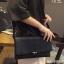 กระเป๋าถือ กระเป๋าคลัช ประดับอะไหล่ดำเมทัลลิค [สีดำ ] thumbnail 6