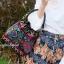 กระเป๋าสะพายแฟชั่น กระเป๋าสะพายข้างผู้หญิง วินเทจ(ขนมจีบลายปัก) [สีแดง]