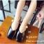 พร้อมส่ง รองเท้าคัทชูส้นแบนสีดำ หัวตัด กำไรข้อเท้าไข่มุก แฟชั่นเกาหลี [สีดำ ] thumbnail 5