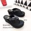 พร้อมส่ง รองเท้าแตะผู้หญิงสีดำ แบบคีบ BAOBAO Issey Miyake แฟชั่นเกาหลี [สีดำ ] thumbnail 3
