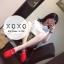 พร้อมส่ง รองเท้าคัทชูส้นแบนสีแดง ผ้าสักหราด น้ำหนักเบา แฟชั่นเกาหลี [สีแดง ] thumbnail 2