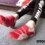 พร้อมส่ง รองเท้าผ้าใบแฟชั่นสีแดง ไร้เชือก สไตล์ Sport Girls แฟชั่นเกาหลี [สีแดง ] thumbnail 3