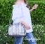 กระเป๋าสะพายแฟชั่น กระเป๋าสะพายข้างผู้หญิง Robot Nologo เนื้อเงา [สีเทา] thumbnail 3