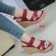 รองเท้าส้นเตารีดรัดส้น สายไขว้ กระชับเท้า [สีแดง ] thumbnail 1