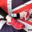พร้อมส่ง รองเท้าผ้าใบแฟชั่นสีแดง ไร้เชือก สไตล์ Sport Girls แฟชั่นเกาหลี [สีแดง ] thumbnail 2