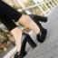พร้อมส่ง รองเท้าคัทชูส้นสูงสีดำ ทรงสวยแฟชั่นเกาหลี แฟชั่นเกาหลี [สีดำ ] thumbnail 5