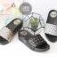 รองเท้าแตะเปิดส้น แบบสวม ลายตาราง สไตล์ลำลอง [สีเงิน ] thumbnail 4