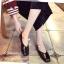 พร้อมส่ง รองเท้าคัทชูส้นแบนสีดำ หัวตัด กำไรข้อเท้าไข่มุก แฟชั่นเกาหลี [สีดำ ] thumbnail 2