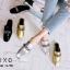 พร้อมส่ง รองเท้าส้นแบนสีทอง แบบสวม สีเมทัลลิค แฟชั่นเกาหลี [สีทอง ] thumbnail 3