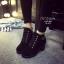 พร้อมส่ง รองเท้าบูทเกาหลีสีดำ หนังพียู ส้นตัน แฟชั่นเกาหลี [สีดำ ] thumbnail 1