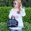 กระเป๋าถือ กระเป๋าสะพายข้างแฟชั่น Robot Nologo เนื้อเงา [สีดำ ] thumbnail 2