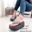 พร้อมส่ง รองเท้าแตะผู้หญิงสีเทา แบบคีบ BAOBAO Issey Miyake แฟชั่นเกาหลี [สีเทา ] thumbnail 2